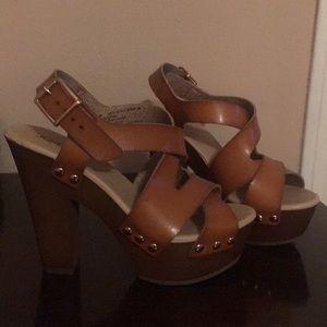 Just fab brown heels